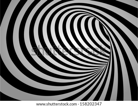 Abstract swirl black and white background