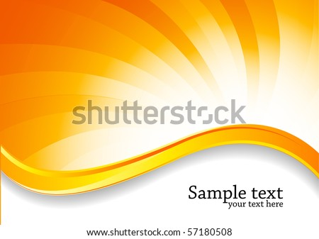 Abstract swirl bright background in orange color