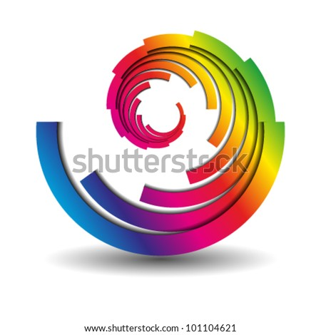 abstract swirl business icon, logo