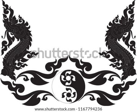 abstract swirl floral naga