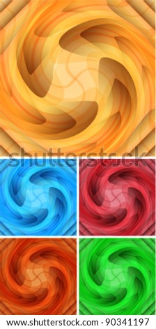 abstract swirl icon set