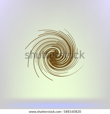 abstract swirl logo flat vector
