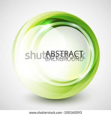 Abstract swirl sphere background