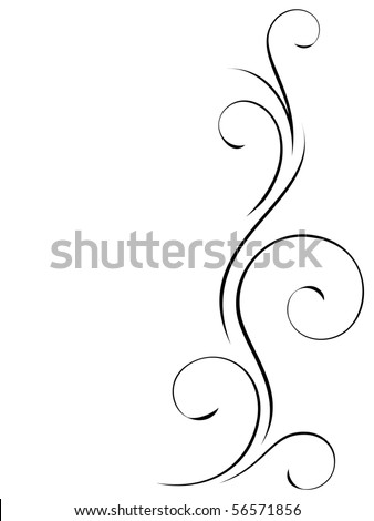 Abstract swirly decoration