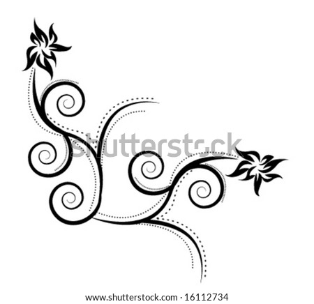 swirly. tattoo. vector. Abstract