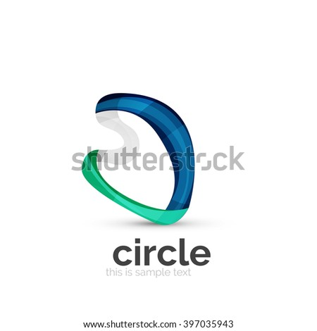 abstract swirly round logo template vector illustration ez canvas