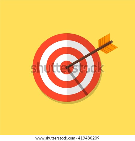 Shutterstock Abstract target flat design icon illustration