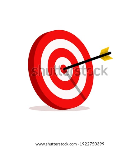 abstract target vector illustrations. the target for archery sports or business marketing goal. target focus symbol sign