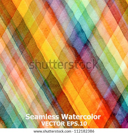 Abstract tartan watercolor ; EPS.10 vector  : original jpeg image ID: 108899303