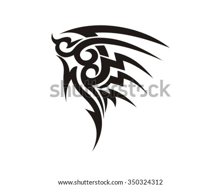 abstract tattoo design shape