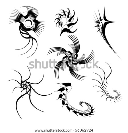 stock vector Abstract tattoo shapes