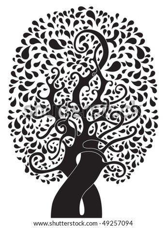stock vector : abstract tattoo tree