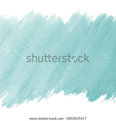 Abstract Teal Watercolor Stain. Teal Watercolor Vector Background.