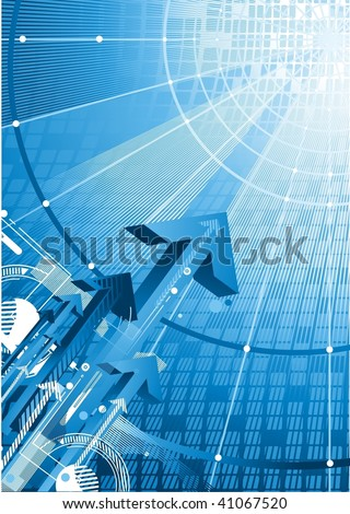 Abstract tech background with arrows and binary codes,no.1
