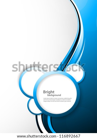 Abstract tech background with circles
