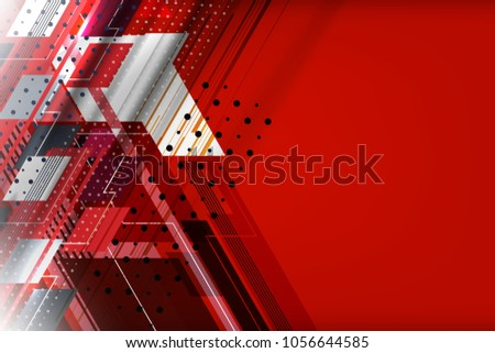 Abstract Tech Background with stripes lines and dots texture for business banner, poster, cover and advertising web design, vector illustration