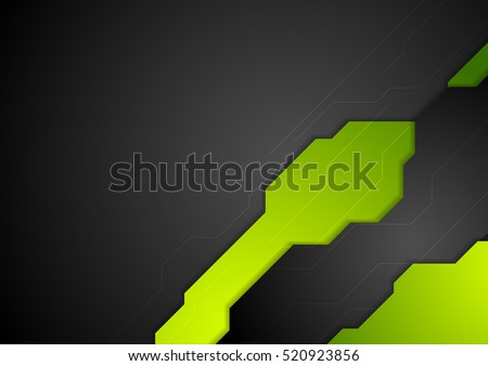 abstract tech corporate green
