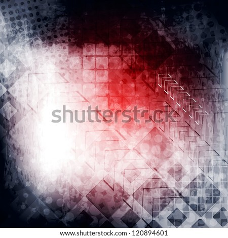 Abstract tech grunge background. Vector illustration eps 10
