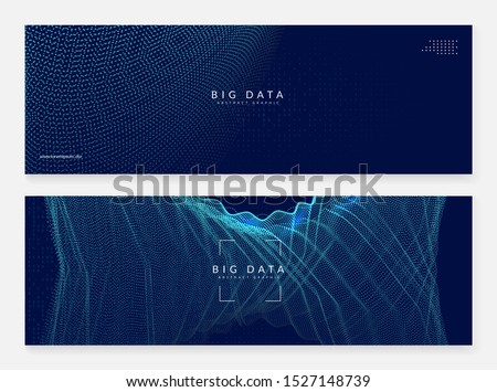 Abstract tech visuals. Digital technology background. Artificial intelligence, deep learning and big data concept for cloud template. Vector abstract tech visuals backdrop.