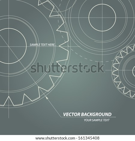 Abstract technical drawing Vectors gears