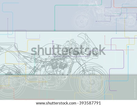 abstract technical motorcycle