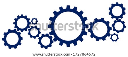 Abstract technical template background. Cogs and gear wheel mechanisms. Technology and engineering.