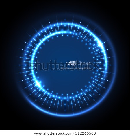 abstract techno background with
