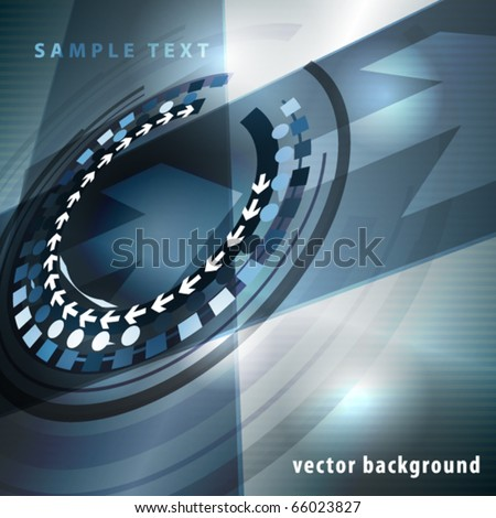 Abstract techno perspective template for cover. Vector