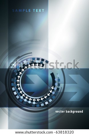 Abstract techno template for cover. Vector