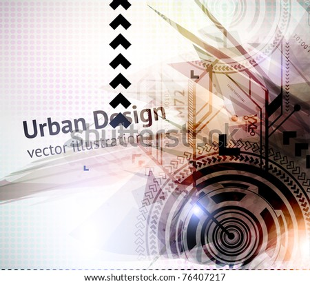 Abstract Techno Vector Background. Eps 10.