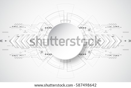 Abstract technological background concept with various technology elements. illustration Vector