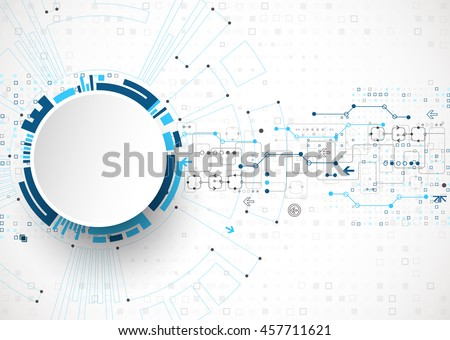 Abstract technological background. Structure square pattern backdrop. Vector