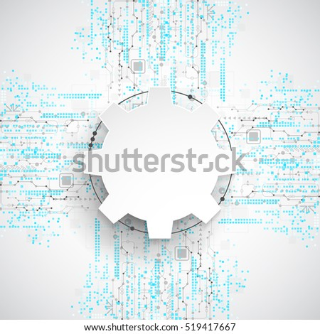 abstract technological