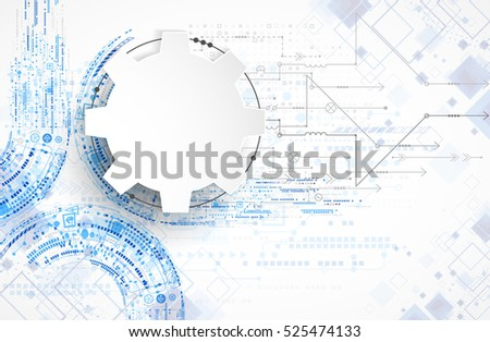Abstract technological background. Structure square pattern. Vector