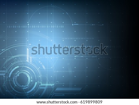 Abstract technological future blueprint vector background design