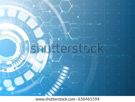 abstract technological future