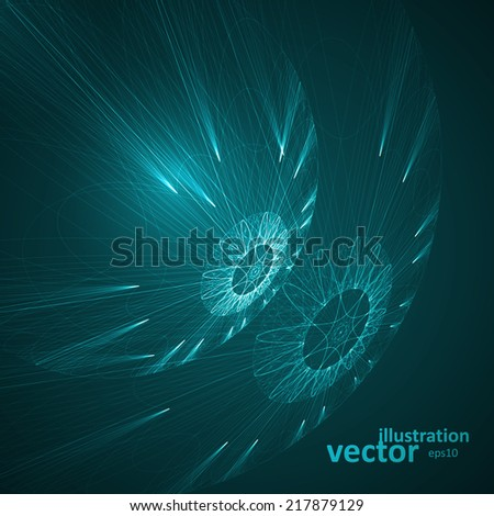Abstract technological vector background futuristic art illustration eps10