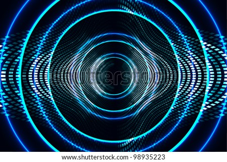 abstract technology background (digital art theme) radio waves, frequency, wi-fi, speaker, etc.