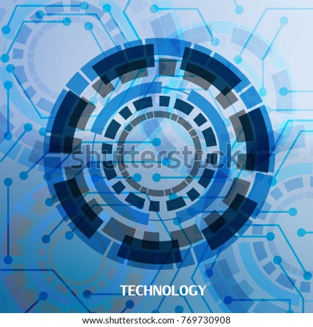 Abstract technology background.Futuristic concept design.Vector illustration.