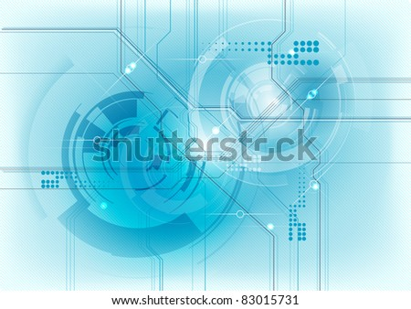 abstract technology background in blue