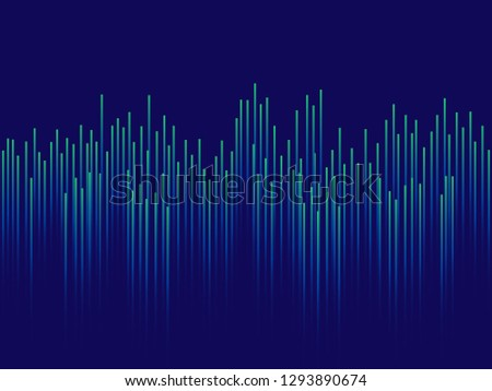 Abstract technology background, Lines composed of glowing backgrounds. Vector illustration. #1293890674