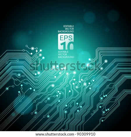 abstract technology background - vector