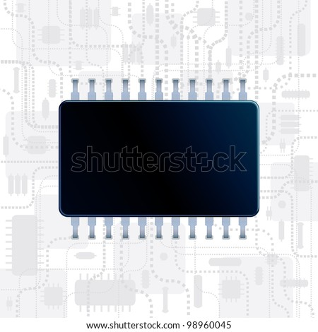 Abstract Technology Background with Computer CPU for your own text message