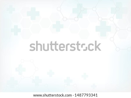Abstract technology background with hexagon pattern.. Medical and healthy concept. Can be used show your text. Vector illustration.