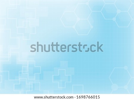 Abstract technology background with hexagon pattern. Medical and healthy concept. Can be used show your text. Vector illustration.