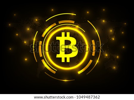 Global digital internet currency with world map design descargue abstract technology bitcoin crypto currency futuristic digital world map background vector illustration gumiabroncs Images