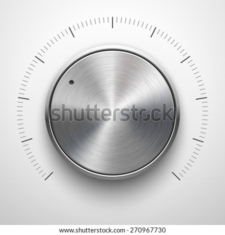 abstract technology button