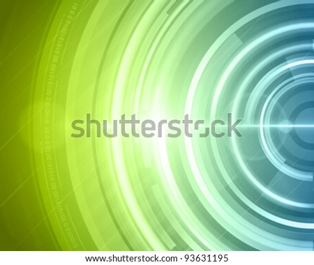 Abstract technology circles and digital light vector background eps 10