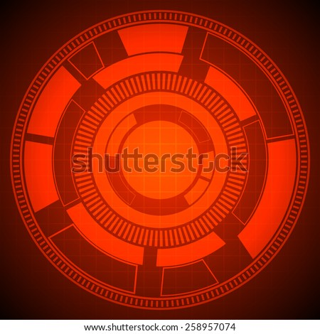 abstract technology circles and