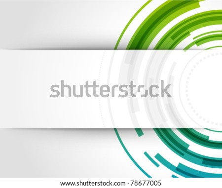stock-vector-abstract-technology-circles-vector-background-with-cut-paper-and-shadow-eps
